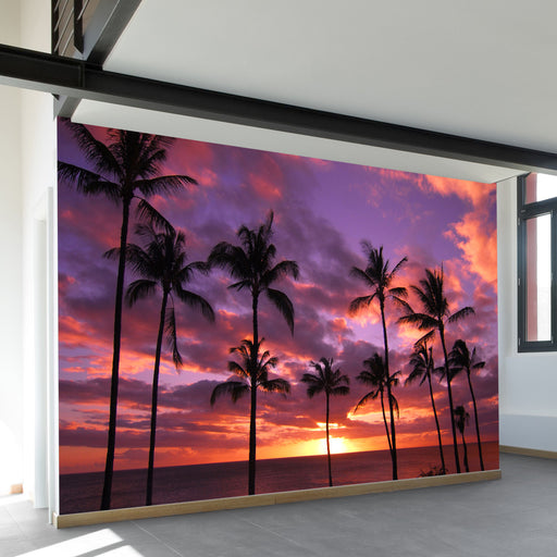 Hawaiian Sunset Wall Mural by Walls Need Loveᄄ