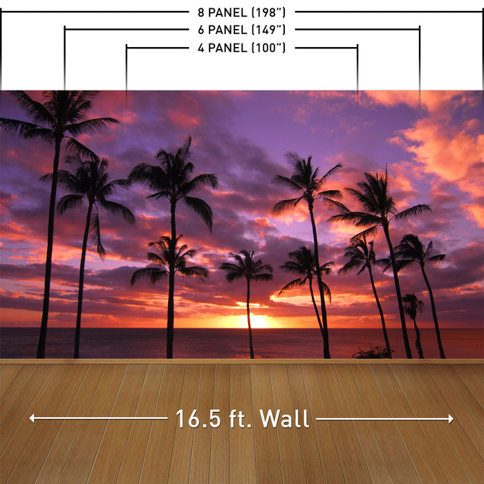 Hawaiian Sunset Wall Mural