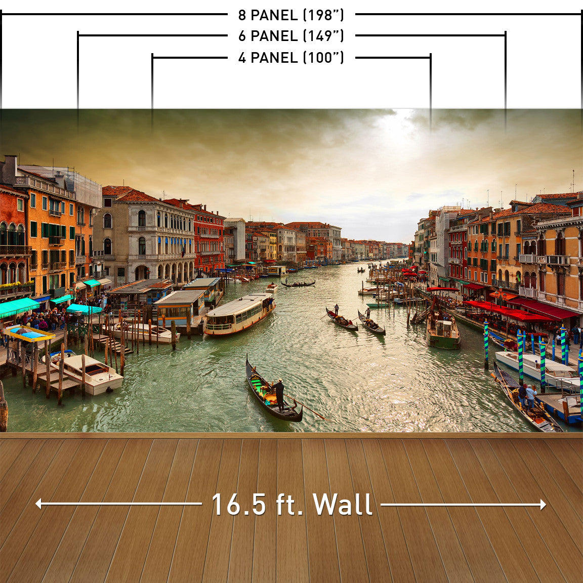 The Canals of Venice Wall Mural