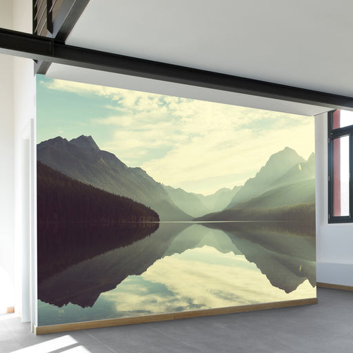 Glistening Bowman Lake Wall Mural by Walls Need Loveᄄ
