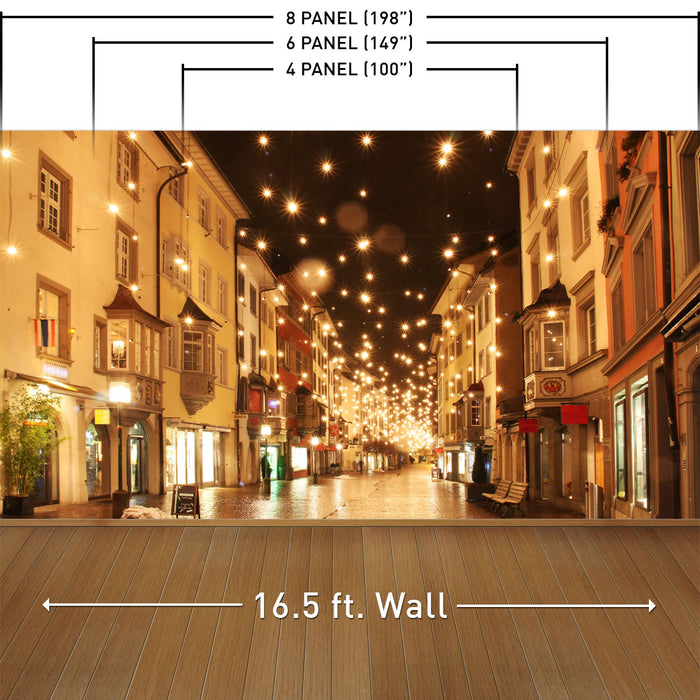 Streets Aglow Wall Mural