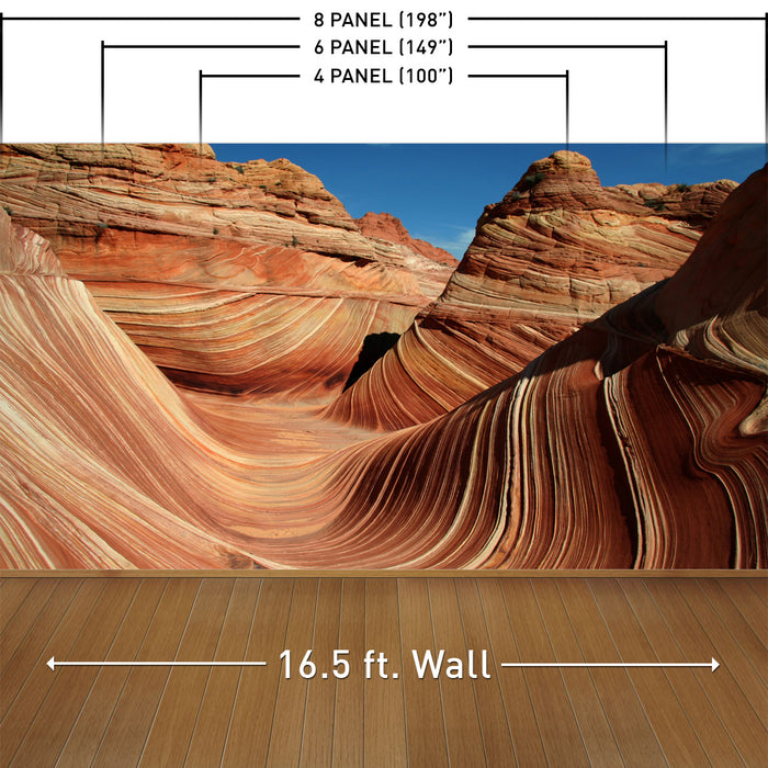 The Sandstone Wave Wall Mural