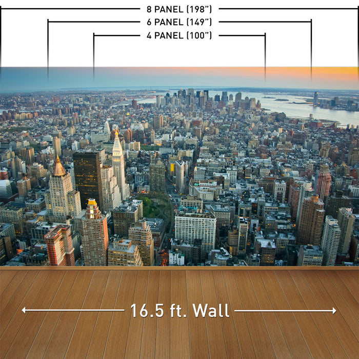 The Big Apple at Sunset Wall Mural