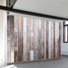 Distressed Barn Wood Wall Mural