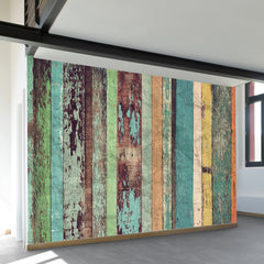 Distressed Panels Wall Mural