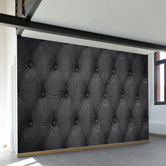 Black Tufted Wall Mural