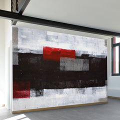 Red Over Black Wall Mural