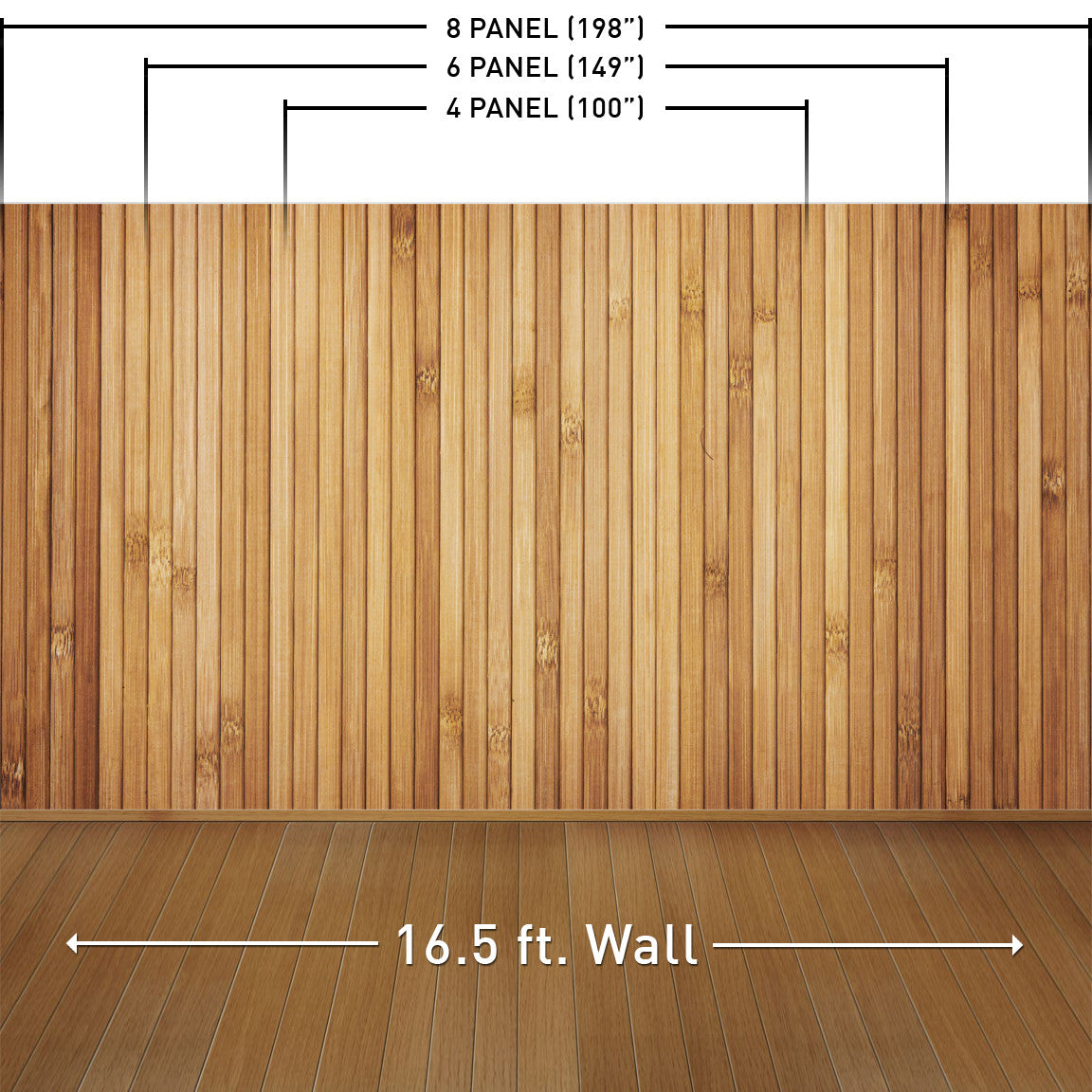 Retro Wood Light Wall Mural