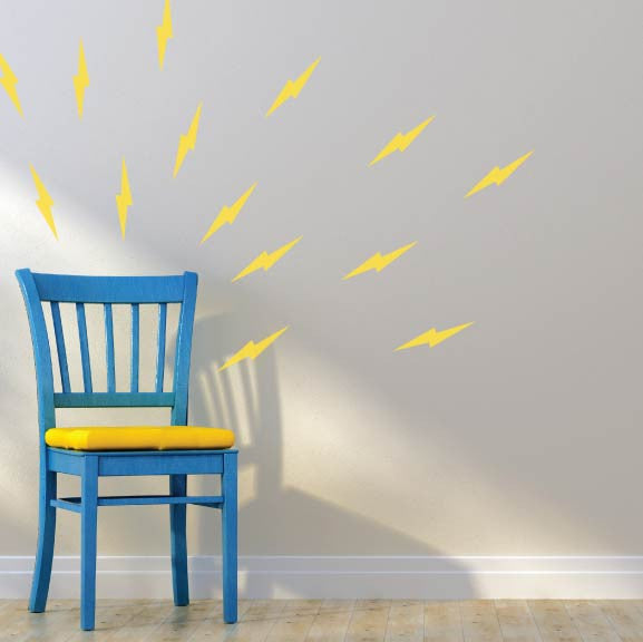 Lightning Bolts Mini-Pack Wall Decals | lifestyle