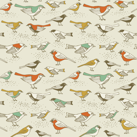 Song Sparrows Removable Wallpaper wall decal