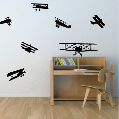 Nursery wall decals - Airplanes on wall | lifestyle