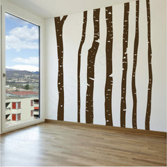 Birch Forest wall decal on wall | lifestyle