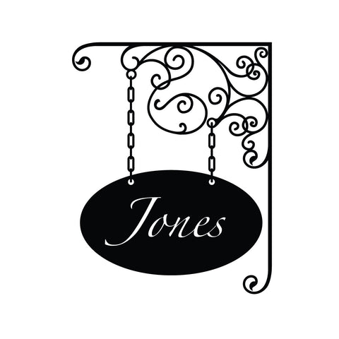 wall quotes wall decals - Elegant Hanging Name Sign