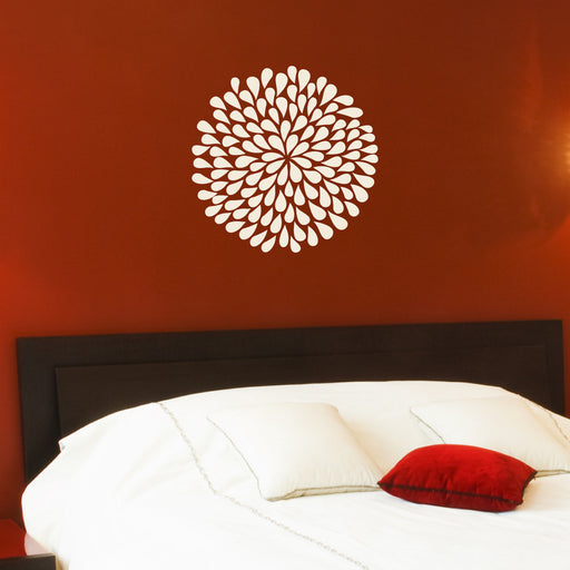 Poppy Flower wall decals on wall behind bed | lifestyle