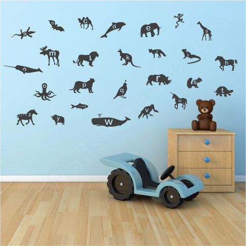 Nursery Mount wall decals - Animal Alphabet | lifestyle