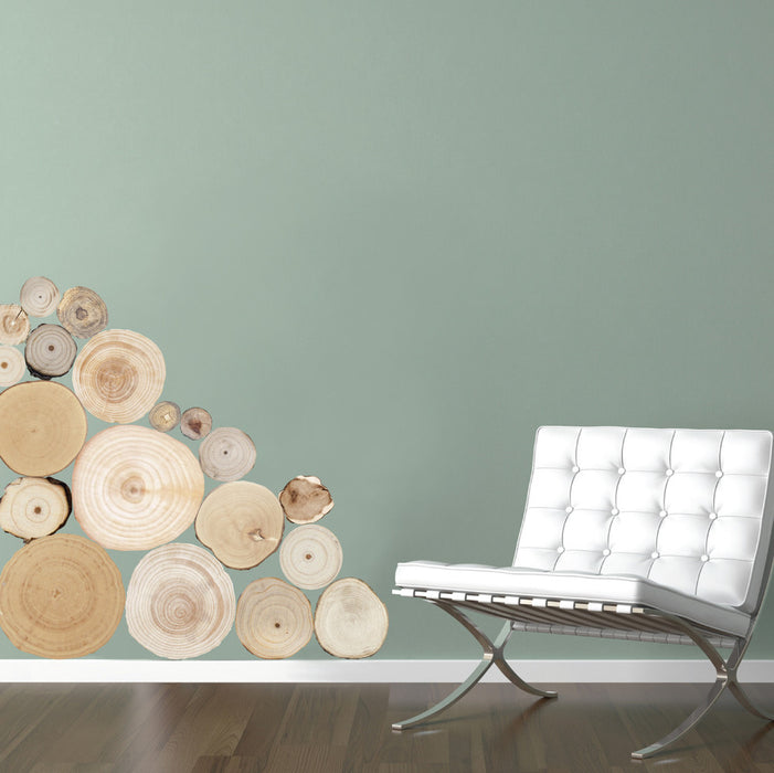 wall decal - Split Logs wall decal on wall beside couch!