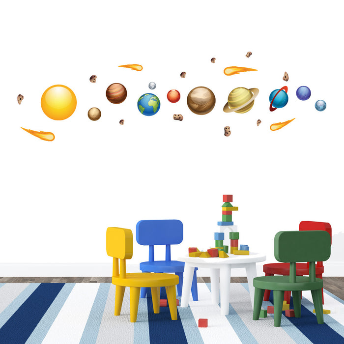 Nursery Mount wall decals - Solar System on wall!