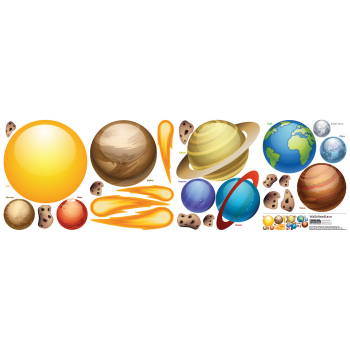 Nursery Mount wall decals - Solar System on wall | Kids & Nursery