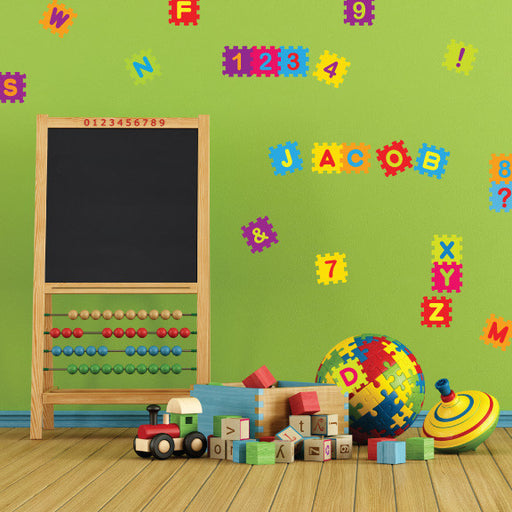 Nursery Mount wall decals - Puzzle Blocks