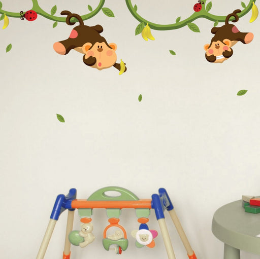 Nursery Mount wall decals - Monkeys Gone Bananas