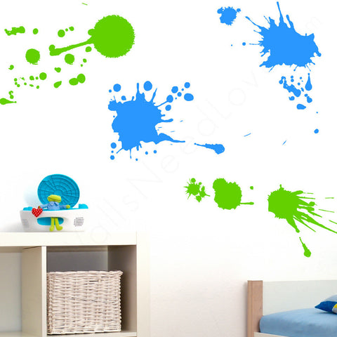 Paint Splatz wall decal on wall in bedroom | lifestyle