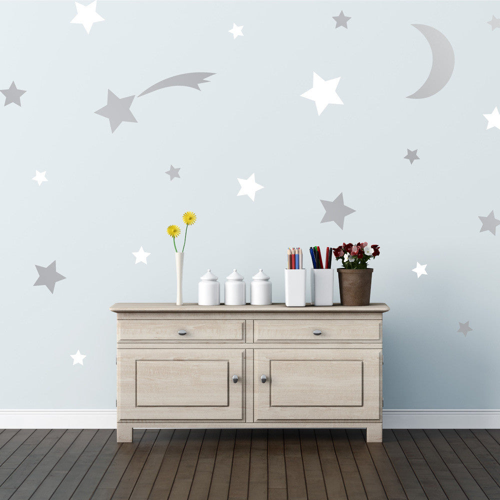 Twinkle Stars wall decal on wall | lifestyle