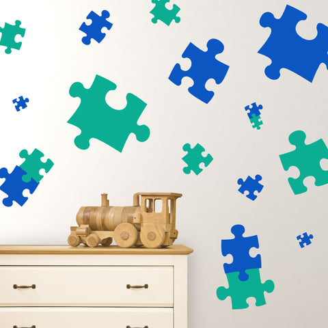 Puzzle Pieces Wall Decals | lifestyle