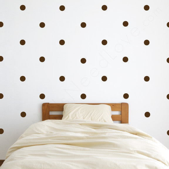 Nursery Mount wall decals - Pattern Dots on wall behind bed!!