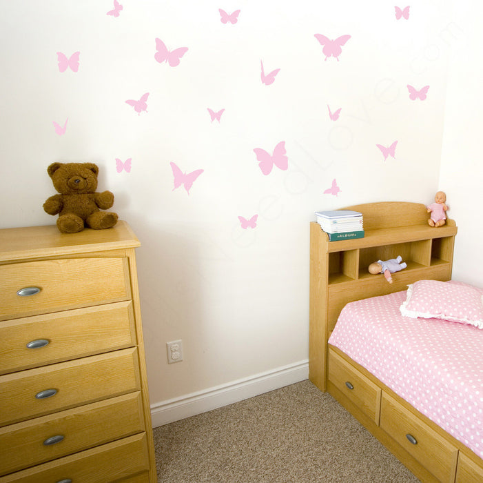 Butterflies wall decal on wall in children's bedroom | lifestyle