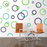 Rings & Dots wall decal on wall behind the chairs | lifestyle