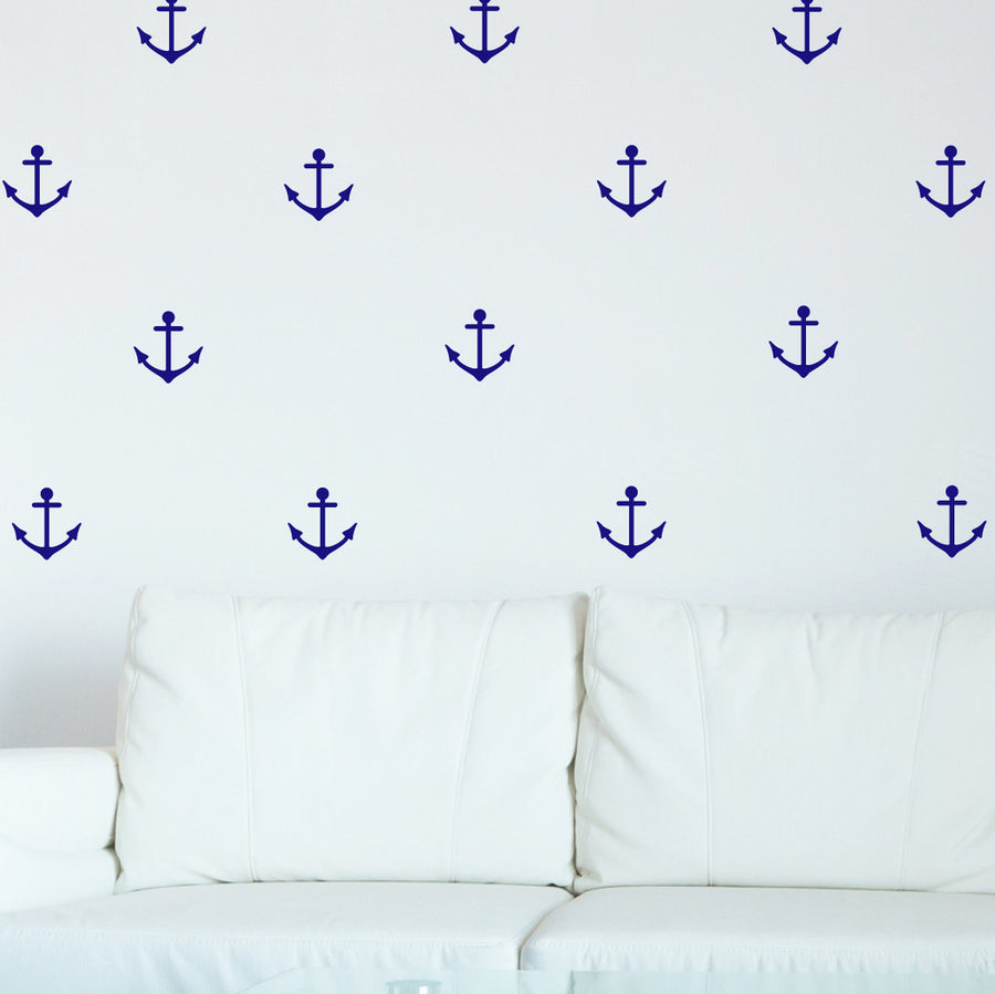 Mini-Pack - Anchors wall decal on blue wall | lifestyle