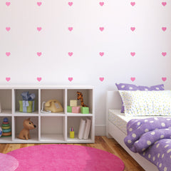 Lil' Hearts wall decal on Wall in children's room | lifestyle