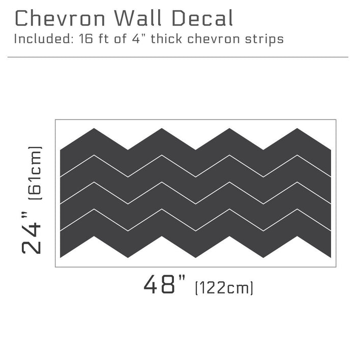 "4"" Wide Chevron wall decal 