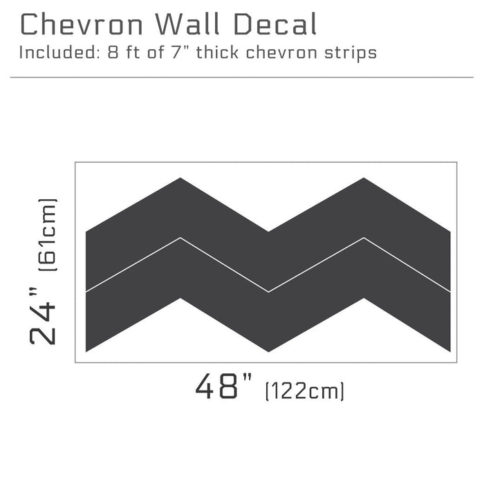 "7"" Wide Chevrons wall decal 