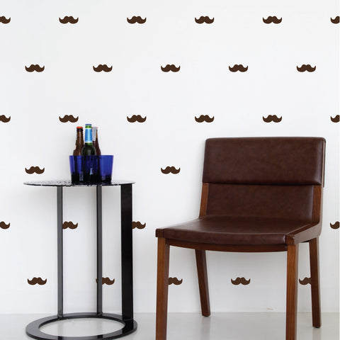 Mustache Mini-Pack Wall Decals | lifestyle