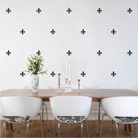 Fleur de Lis wall decal in Dining room | lifestyle