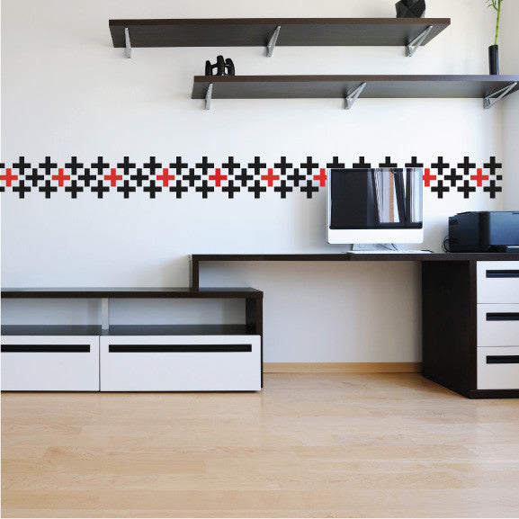 Mini-Pack - Plus Signs  wall decal on wall | lifestyle