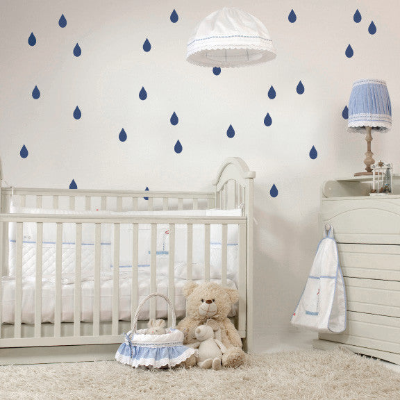 Raindrops Mini-Pack Wall Decals on wall | lifestyle