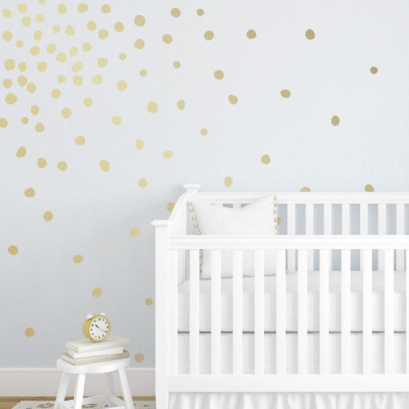 ... gold polka dot wall decals by polka dot wall stickers ... Wall Decal