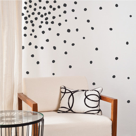 Perfectly Imperfect Dots Mini-Pack Wall Decals on wall | lifestyle