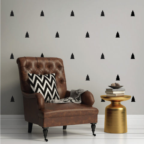 Pine Trees Mini-Pack Wall Decals on wall | lifestyle