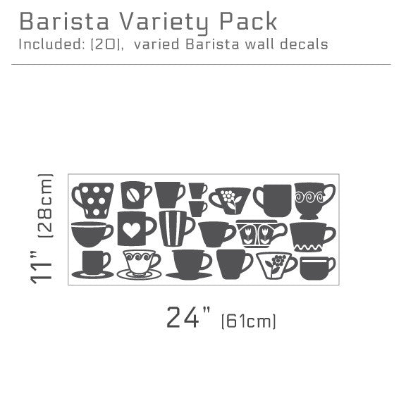 Barista Variety Pack Wall Decals  | lifestyle
