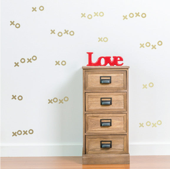 Hugs & Kisses Mini-Pack Wall Decals | lifestyle