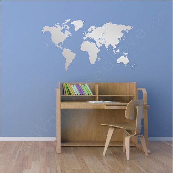 World map vinyl wall decal wallsneedlove world map mount wall decal people cultural lifestyle gumiabroncs Gallery