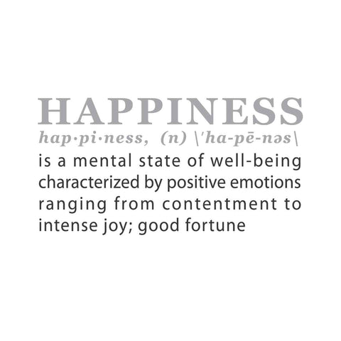 wall quotes wall decals - HAPPINESS: A Definition | lifestyle