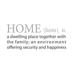 wall quotes wall decals - HOME: A Definition | lifestyle