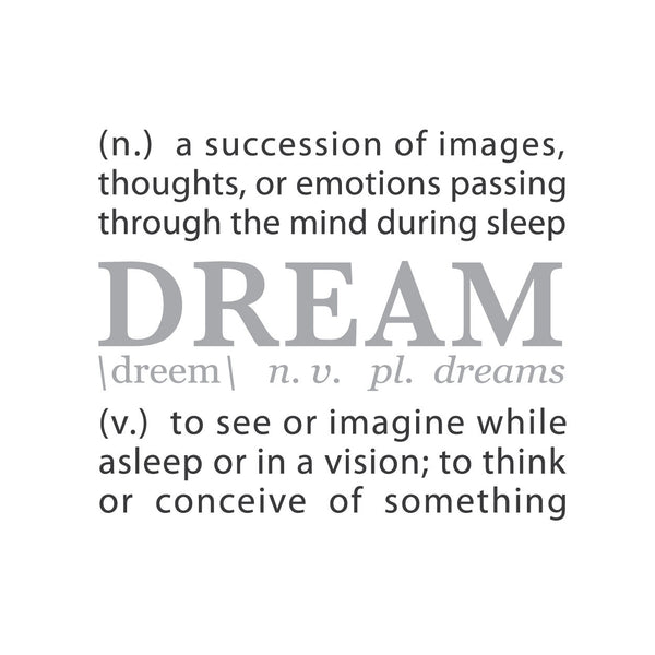 Wall Quotes Wall Decals DREAM A Definition WallsNeedLove Mesmerizing Quotes Definition
