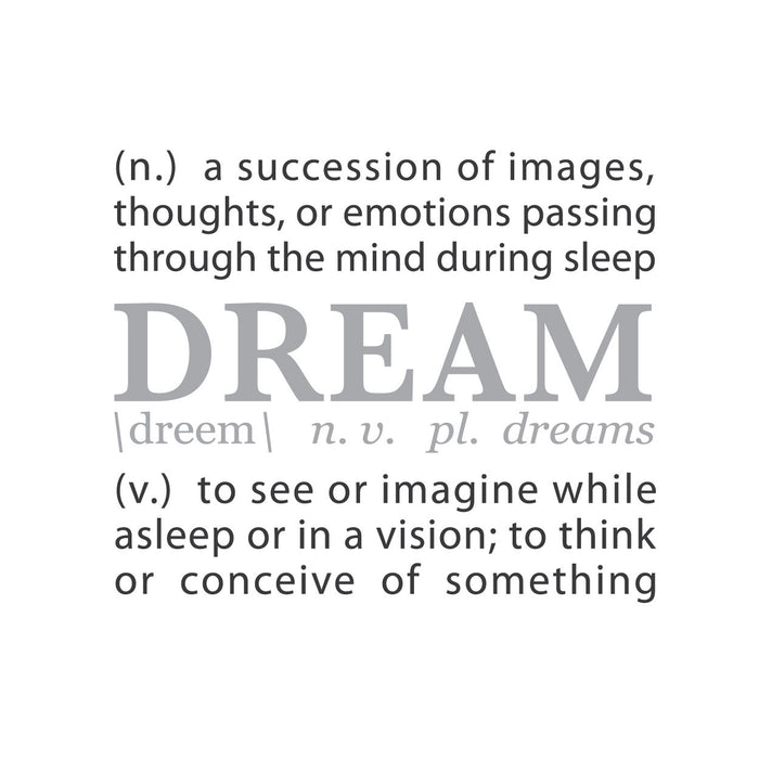 wall quotes wall decals - DREAM: A Definition