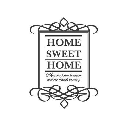 quotes wall stickers home sweet home white quotes adhesive ...