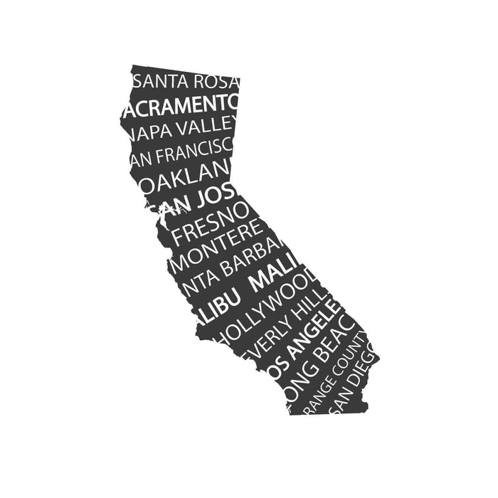 The Golden State Mount wall decal!